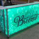 Breezes Portable Bar Green LED Lighting