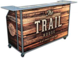 Portable Bar w/ Wood Branding - Trail House