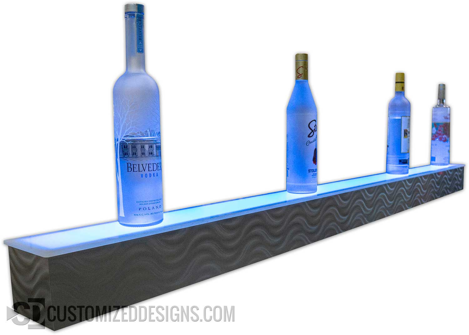 1 Tier LED Liquor Shelves