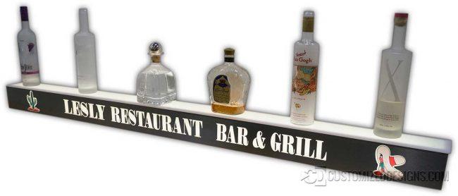 "60"" 1 Step Liquor Display w/ Stainless Steel Finish"