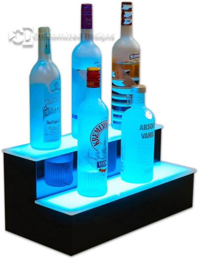 2 Tier Lighted Bottle Display