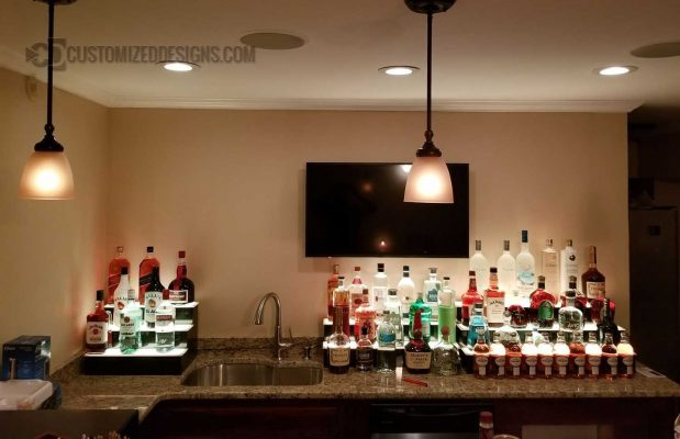 2 & 3 Tier Home Bar Shelving