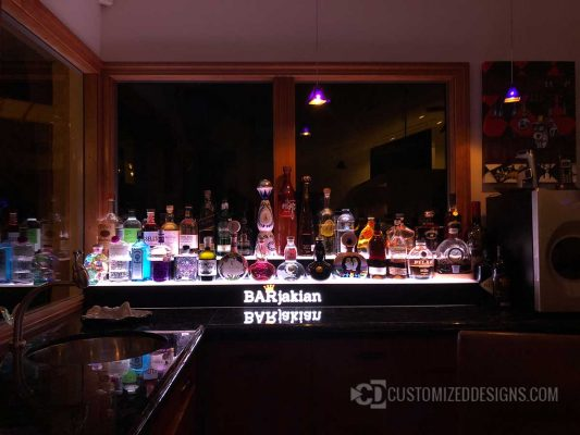 2 Tier Lighted Liquor Risers