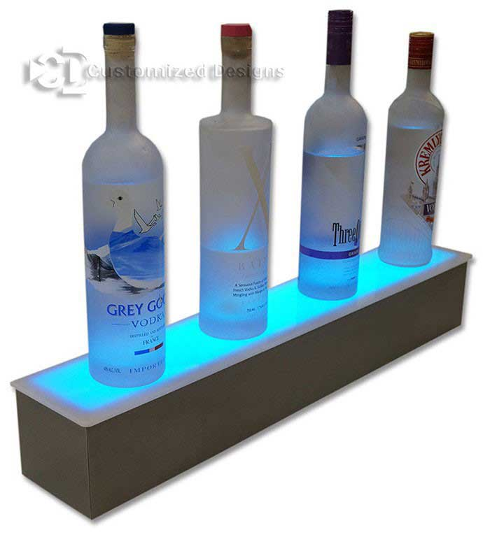 "24"" 1 Tier Bottle Shelf w/ Stainless Steel Finish"