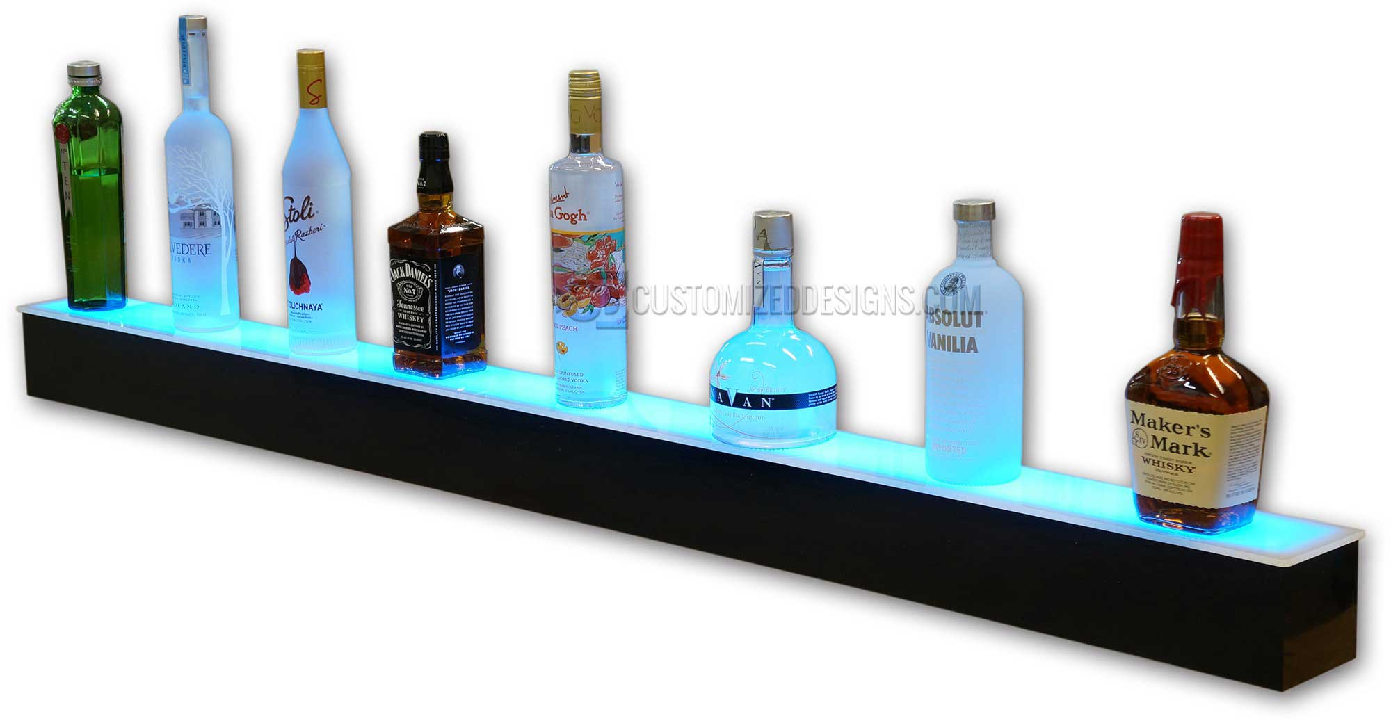 Brilliant 1 Tier Led Liquor Shelves Interior Design Ideas Lukepblogthenellocom
