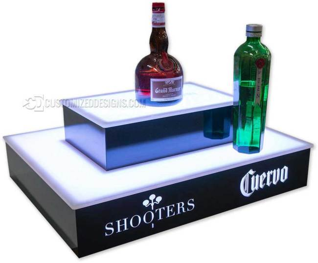 2 Step 4 Sided Island Liquor Shelf w/ Jose Cuervo Logo