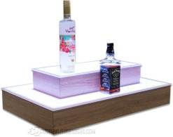 2 Tier 4 Sided Island Bottle Shelving