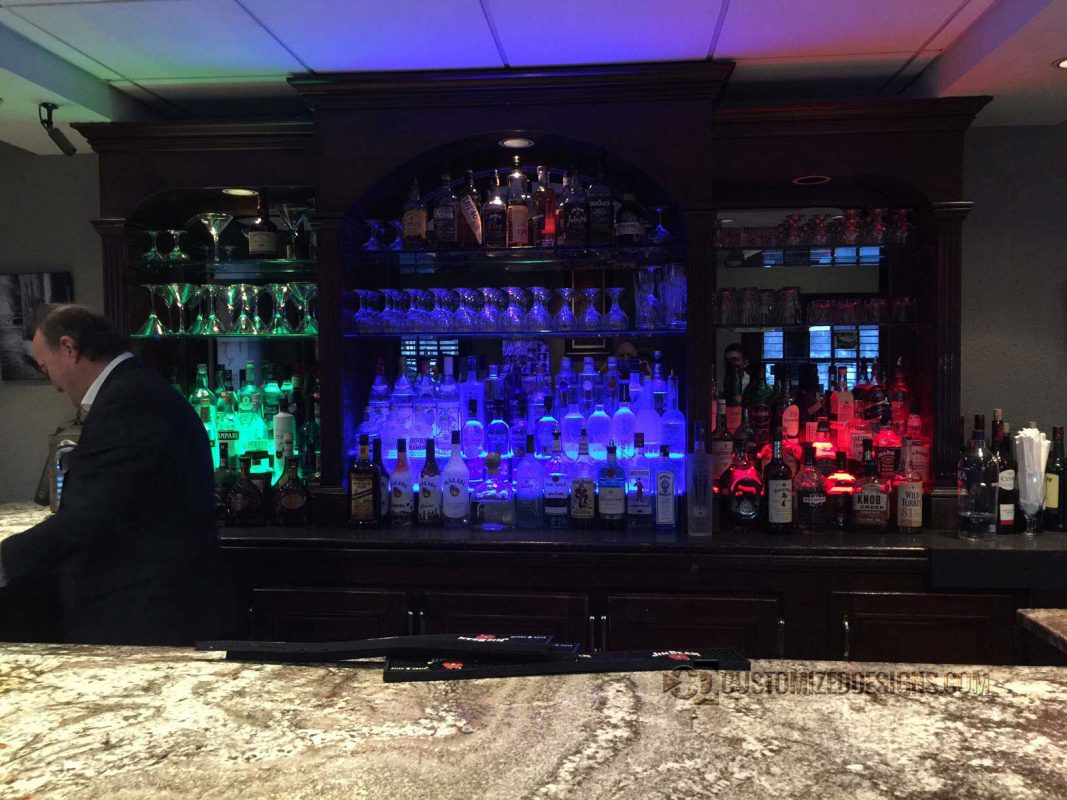 2 Tier Back Bar Display 4