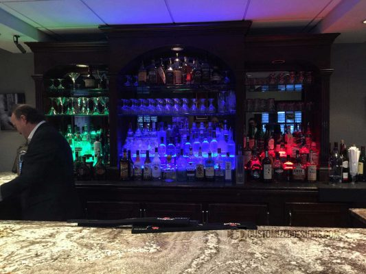 2 Tier Back Bar Display 4
