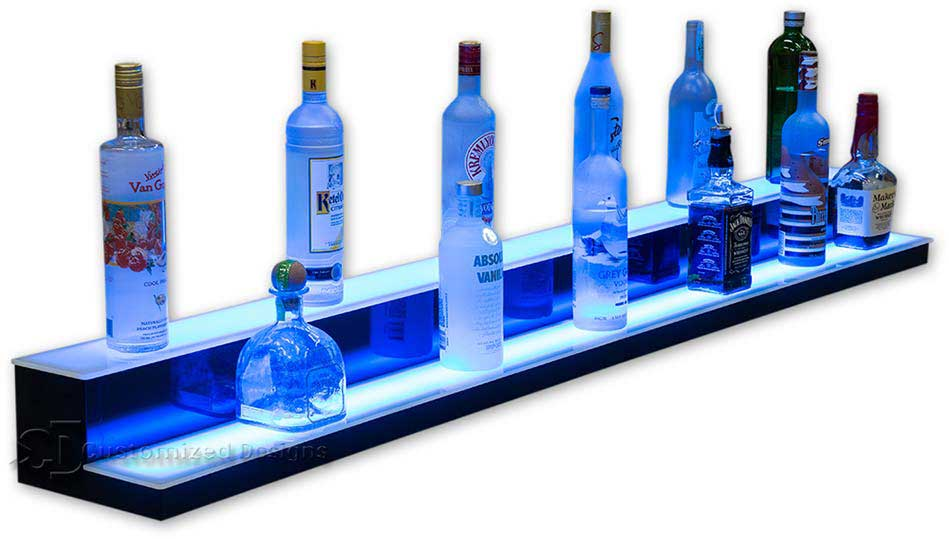 2 Step Low Profile Back Bar Shelving