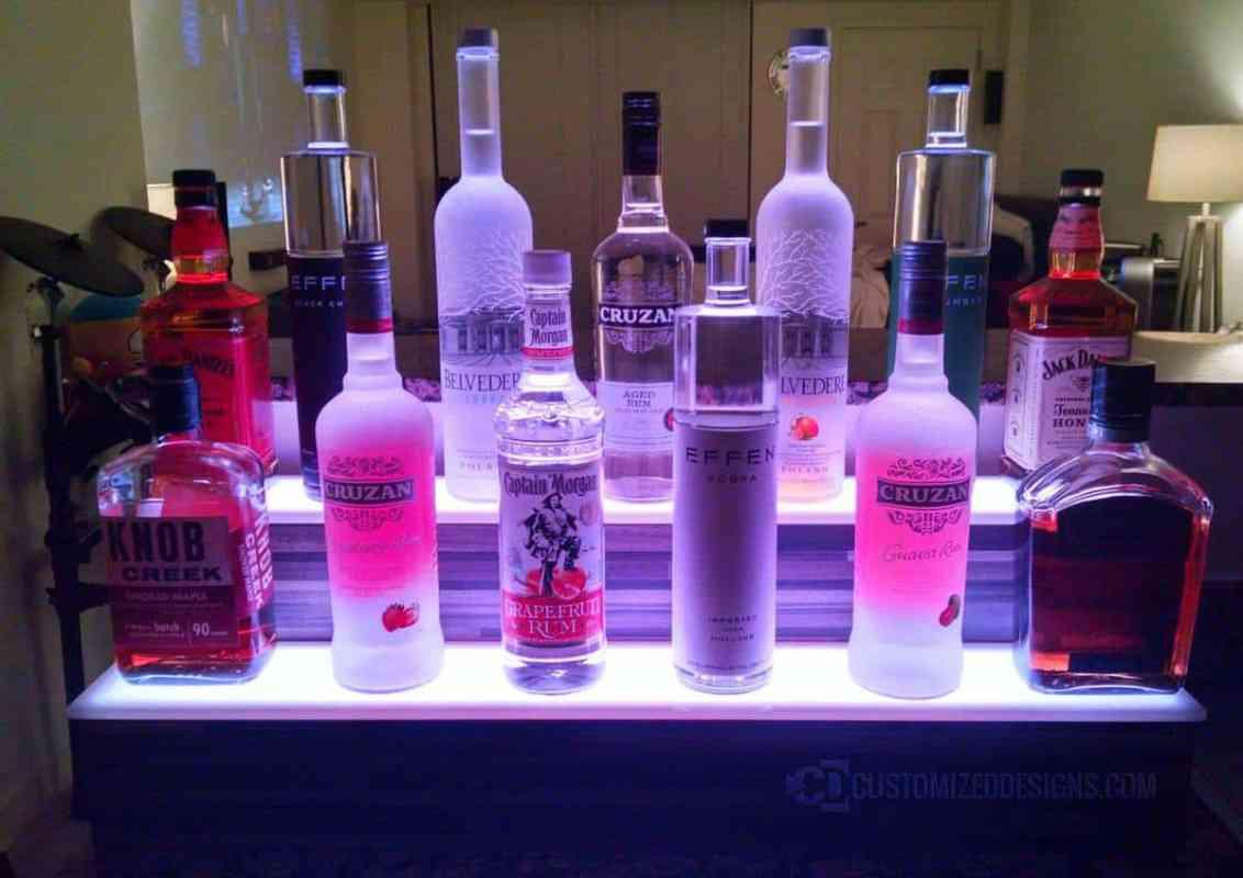 2 Tier Liquor Shelf with Modern Edge Finish