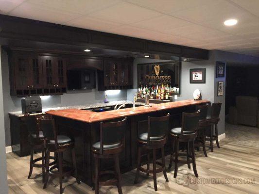 Guiness Dark Wood Home Bar