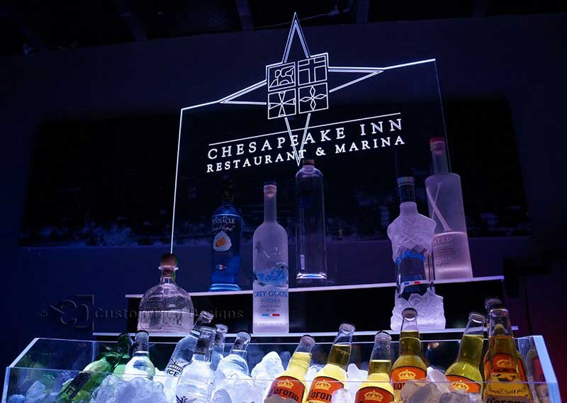 2 Tier Raised Ice & Liquor Display 4