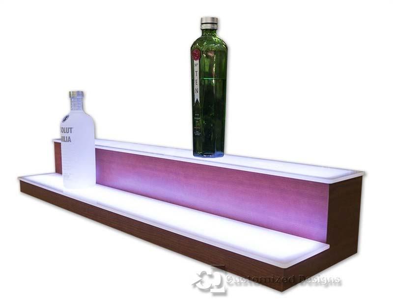 2 Tier Low Profile Liquor Bottle Shelves