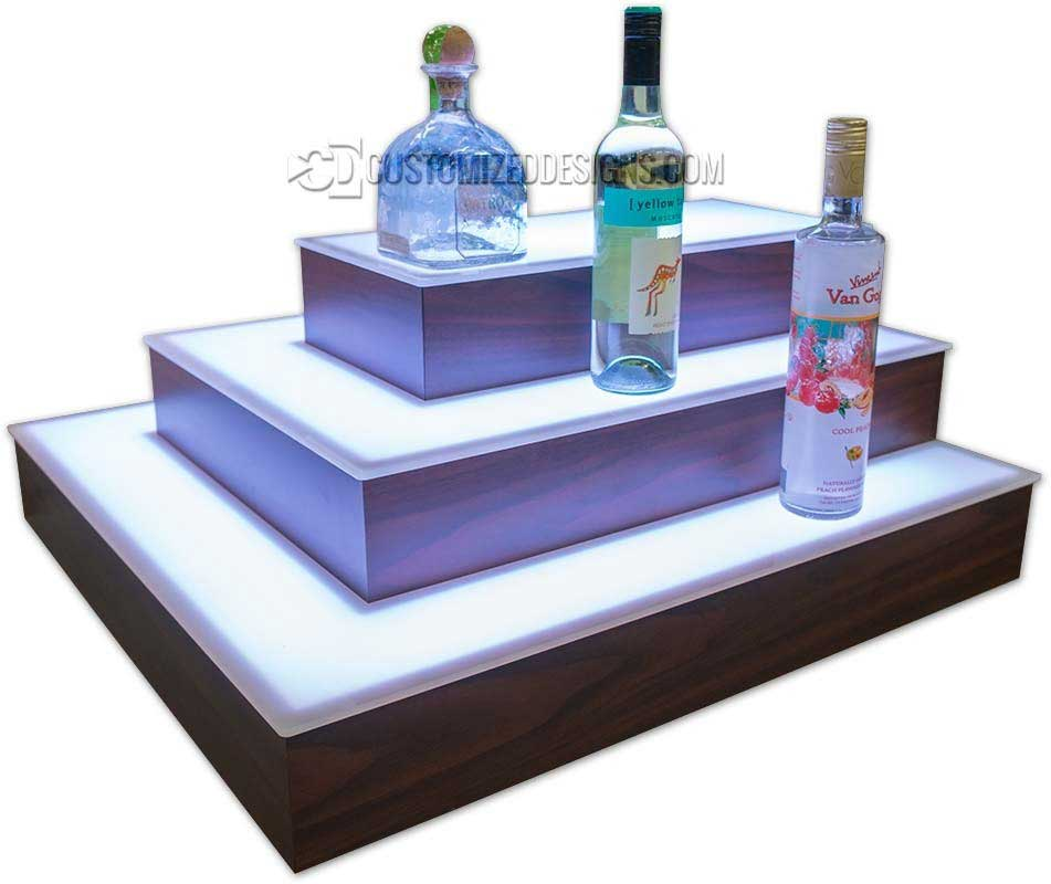 3 Sided Island Liquor Display