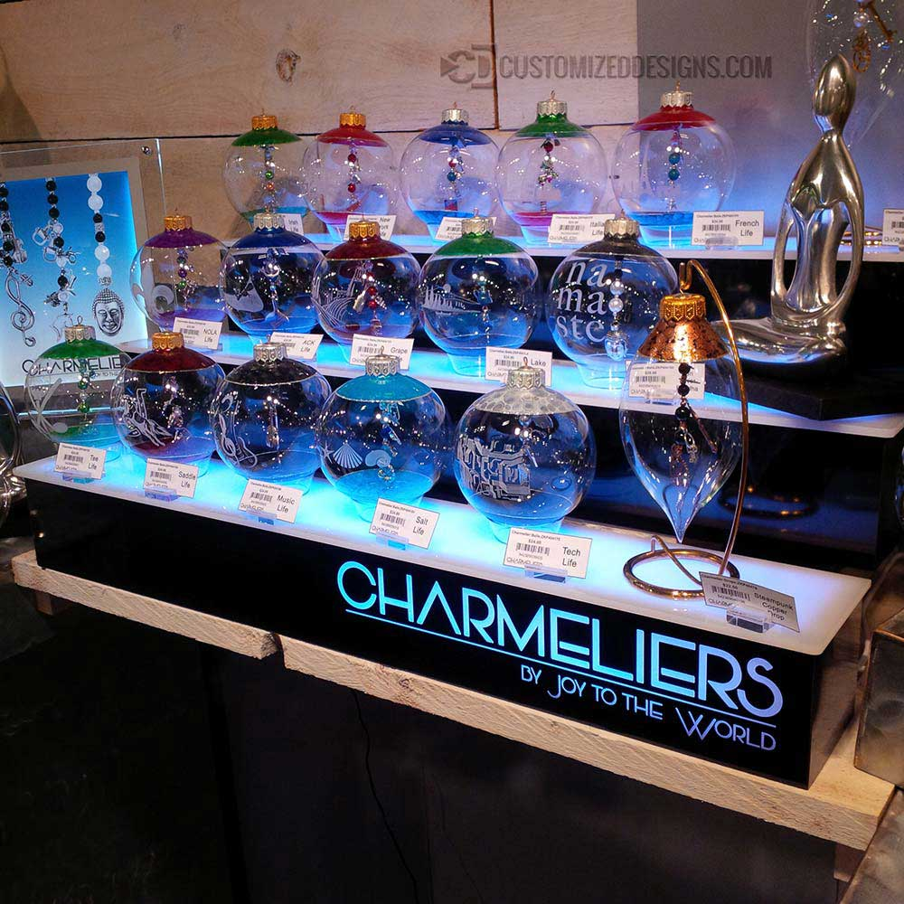 3 Tier Product Display w/ LED Lighting