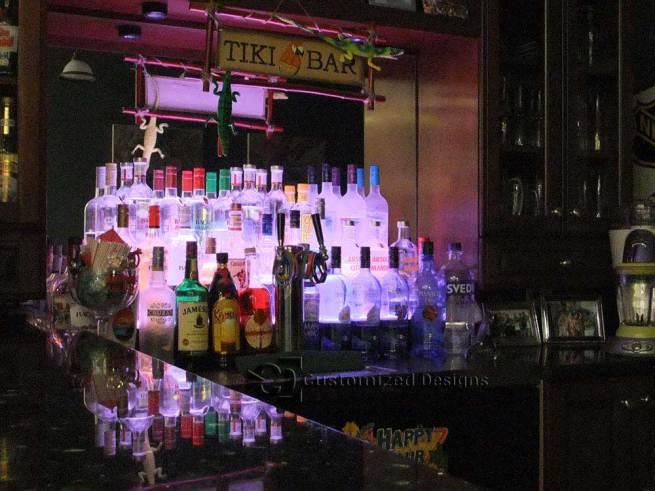 3 Tier Lighted Liquor Display