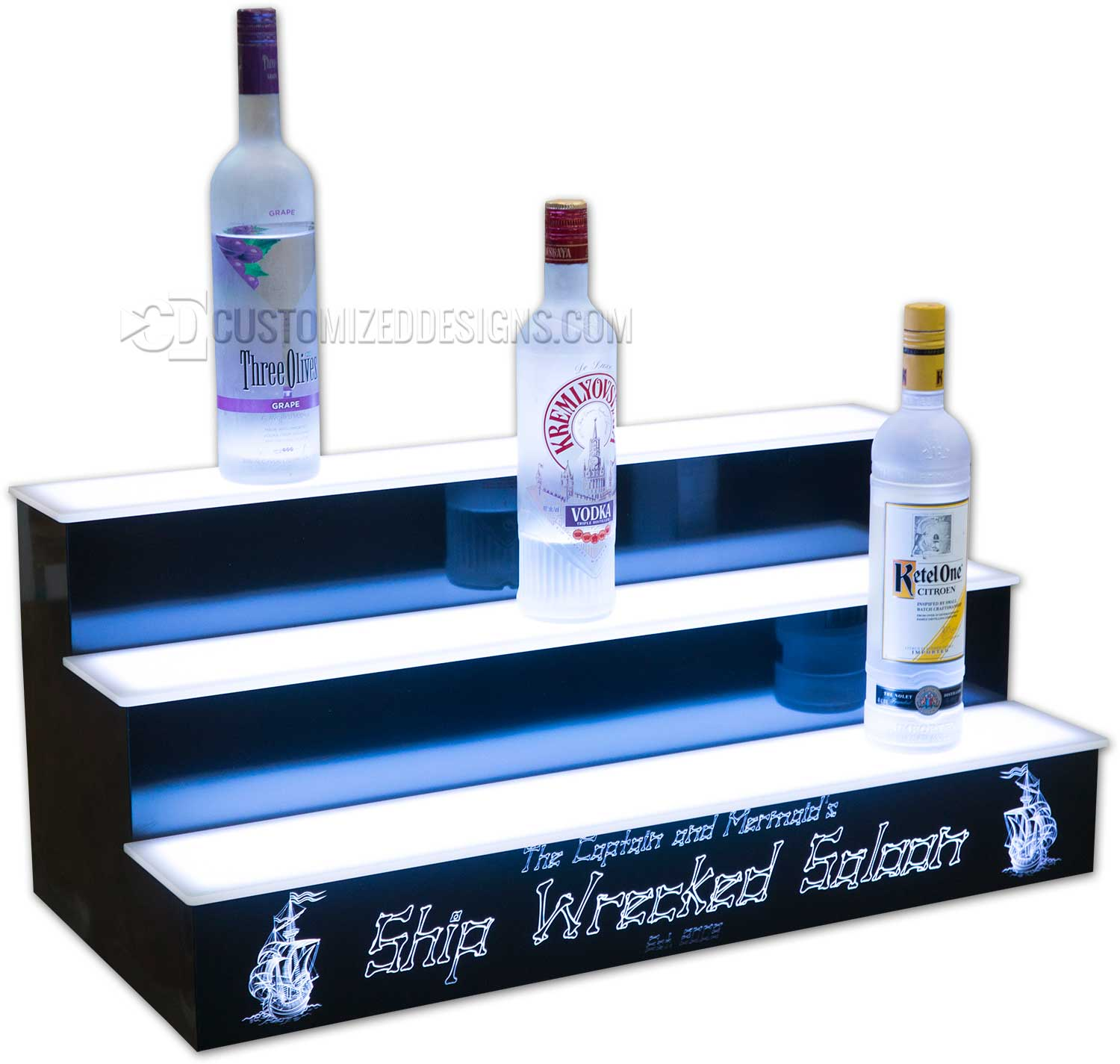 3 Tier Display w/ Pirate Themed Logo