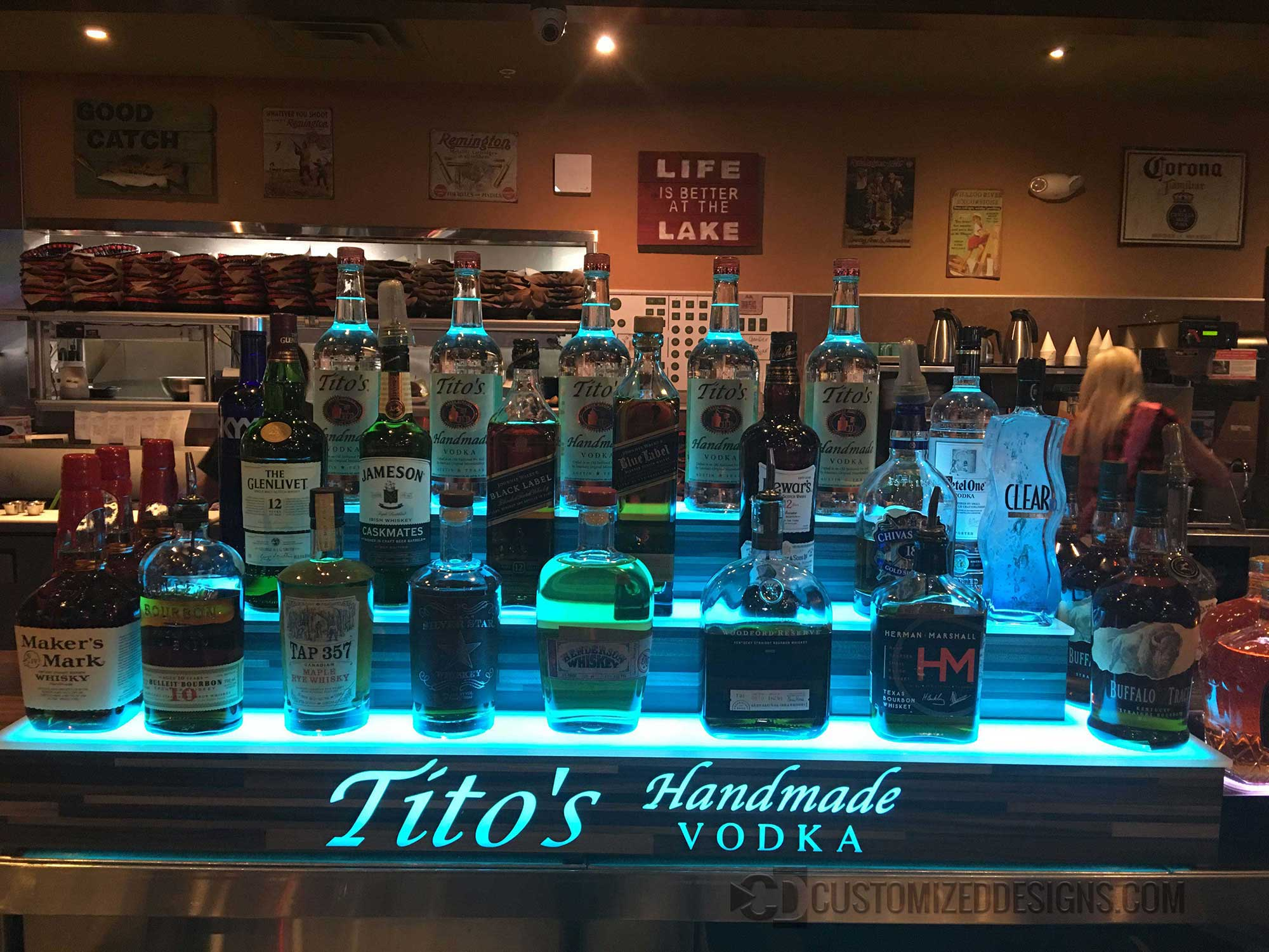 3 Step Wrap Display w/ Titos Vodka