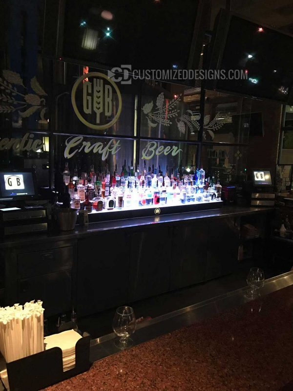 3 Tier Commercial Back Bar Display
