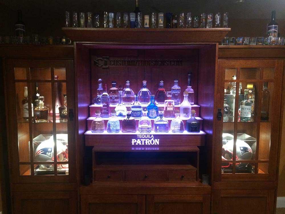 New England Patriots Themed Home Back Bar