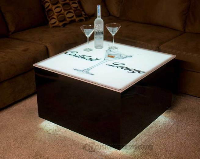 Cubix LED Lighted Lounge Table