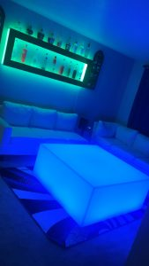 Lumen 44x44 LED Coffee Table