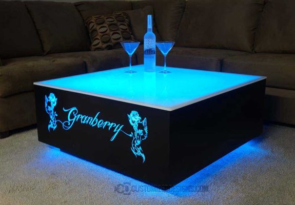 Cubix 36x36 LED Coffee Table 1
