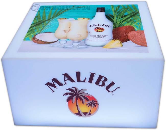 Lumen LED Coffee Table w/ Malibu Rum Branding