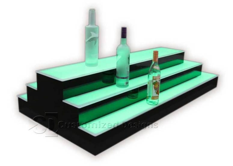 3 Tier 2 Sided Island Style Liquor Shelves