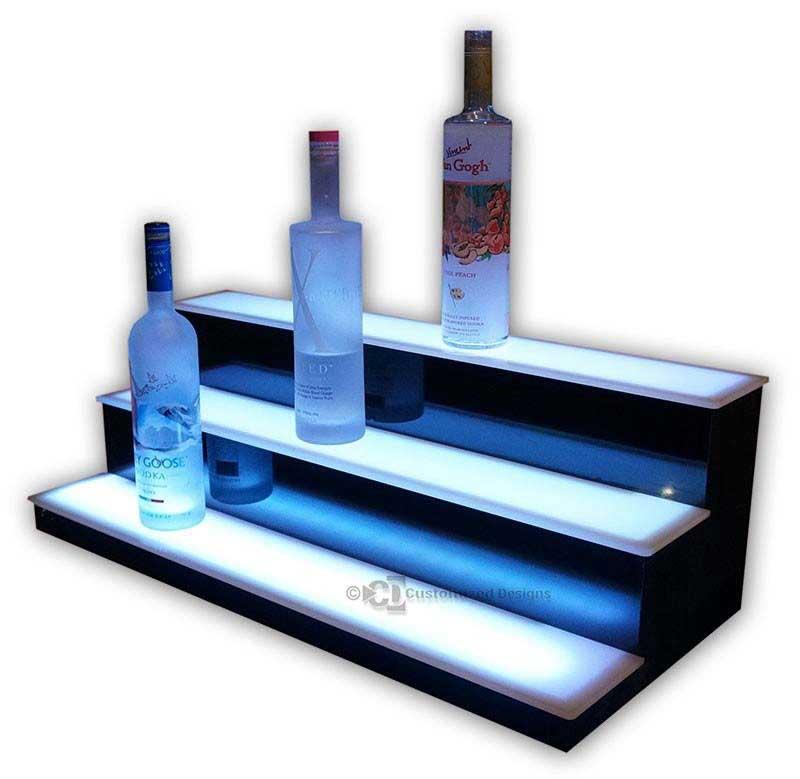 3 Tier Low Profile Liquor Bottle Shelves