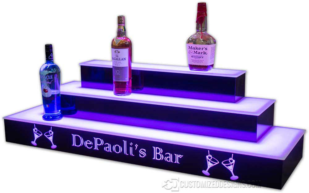 3 Tier Wrap Style Display w/ Logos