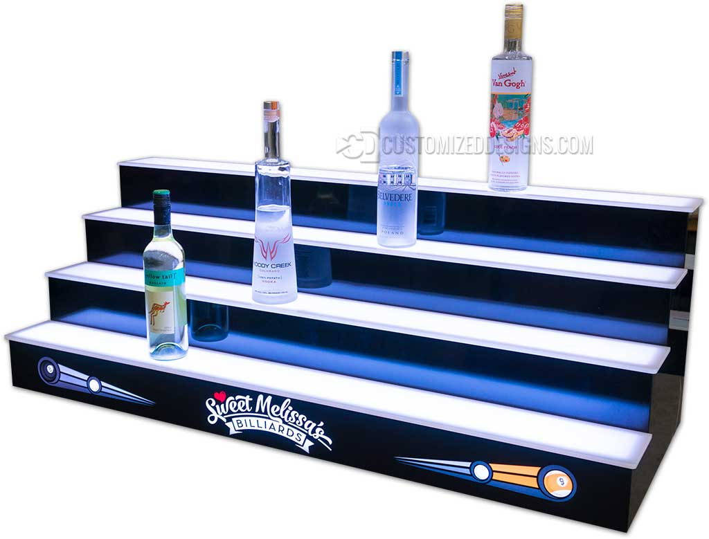 4 Tier Pool Hall Billiards Liquor Display