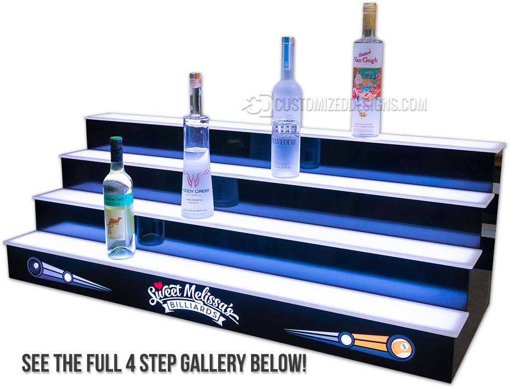 4 Tier Pool Hall Liquor Display
