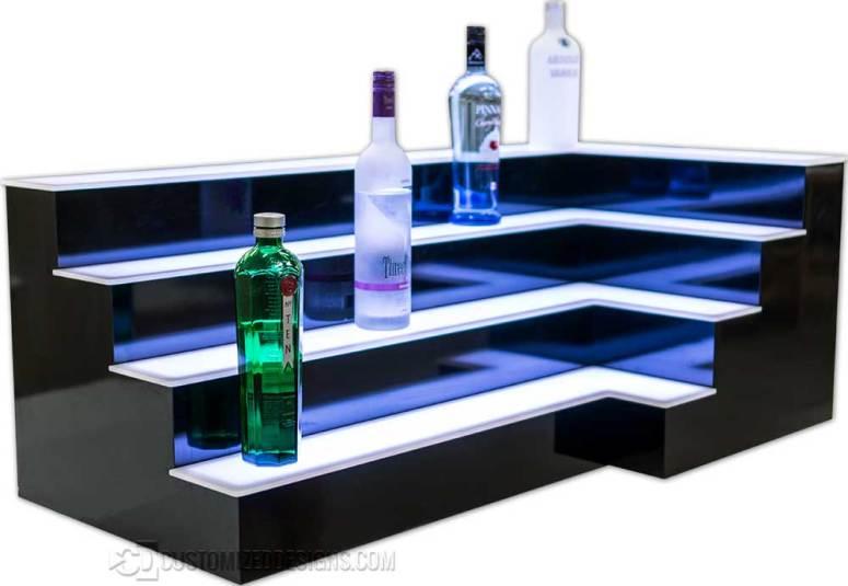 4 Tier Corner Bar Shelves