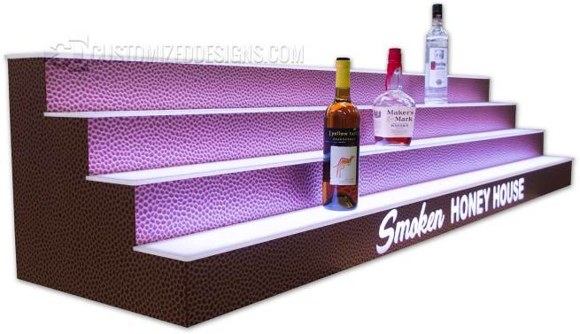 4 Tier Liquor Display with Reptilian Finish