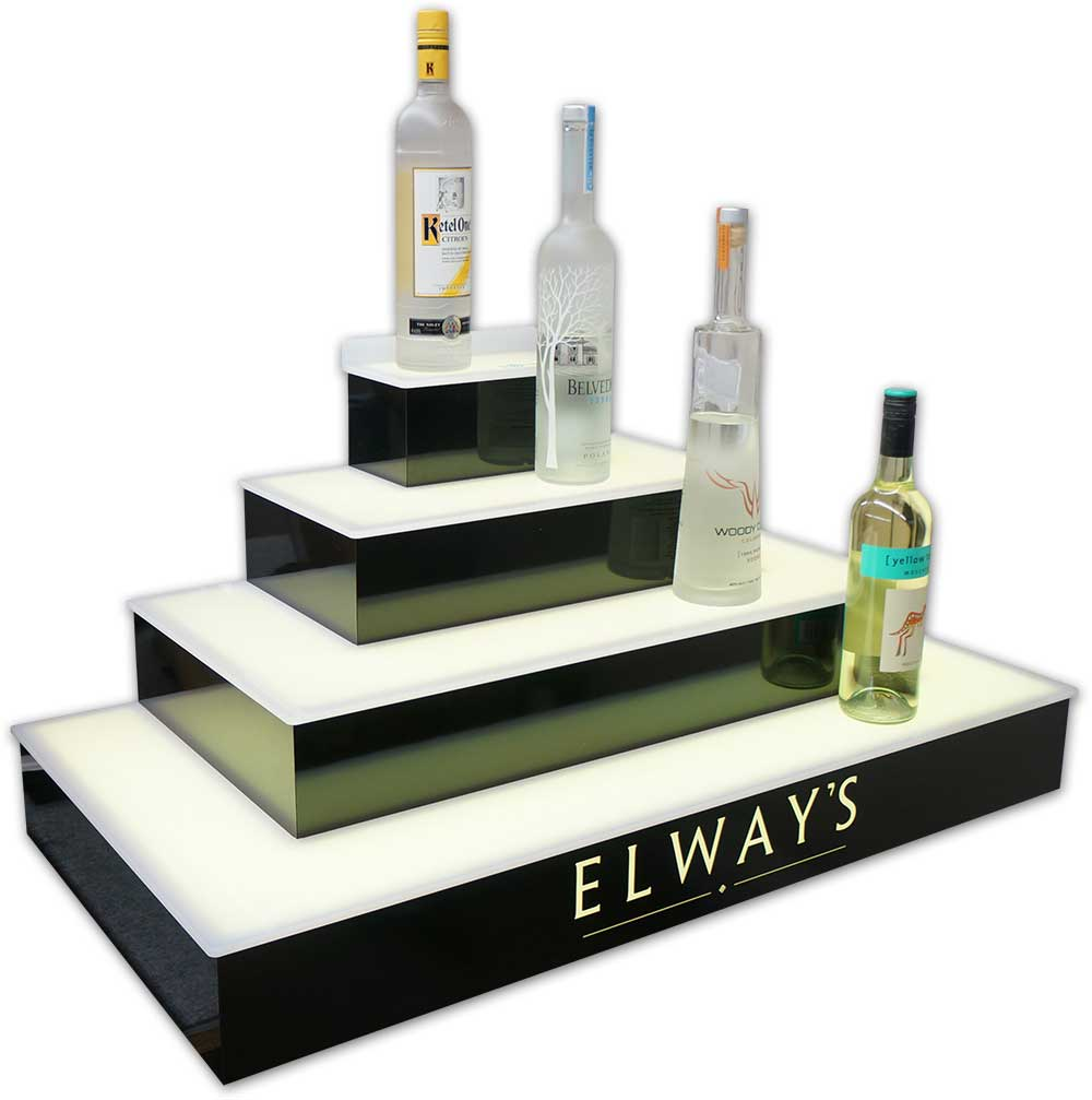4 Tier Wrap Bar Display - Elway's