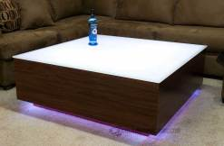 LED Coffee Table w/ Vantage Walnut Wood Finish