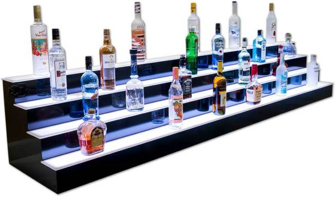 8' Long 4 Tier Bar Shelves