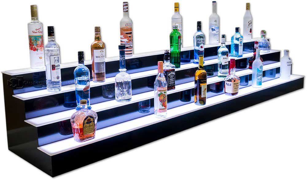 8' Long 4 Tier Bar Shelves