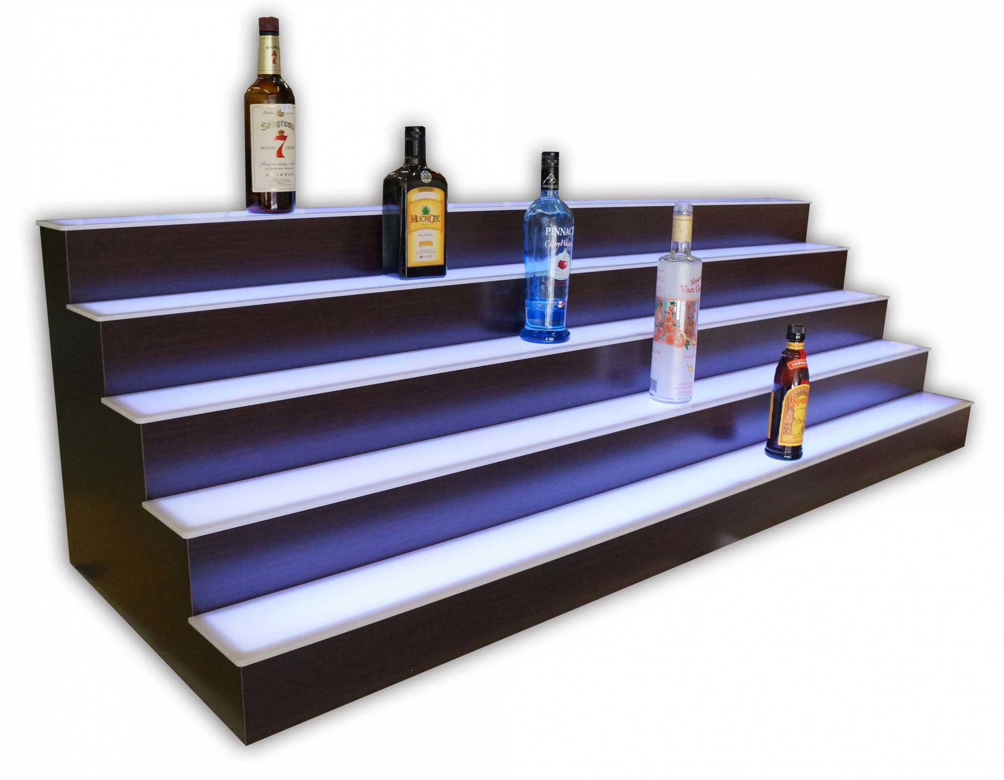 5 Tier LED Lighted Back Bar Shelving 3