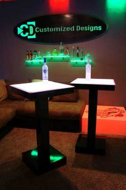 LED Lighted Cocktail Tables