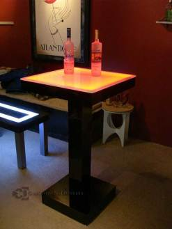 LED Lighted Cocktail Table