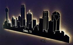 Dallas, TX LED Lighted Skyline