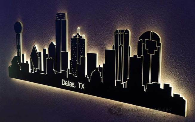 Dallas, TX LED Lighted Skyline