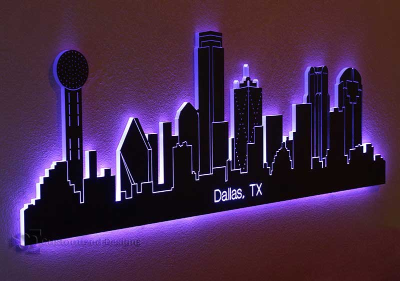 Dallas Tx Led Lighted Skyline