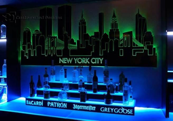 New York City Skyline with Trade Centers