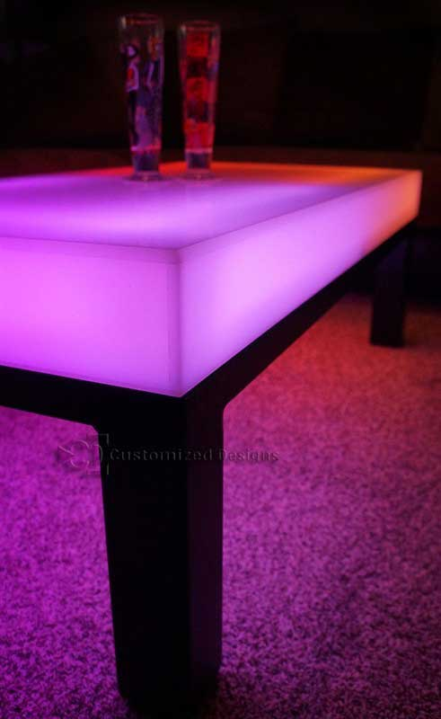 LED Lighted Coffee Table - Aurora Series