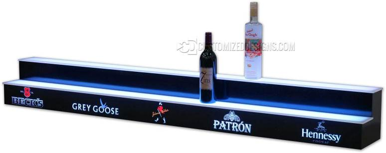 2 Tier Bar Display w/ Liquor Logos