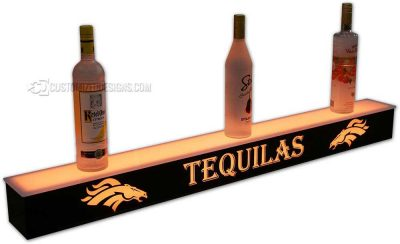 1 Tier Liquor Display w/ Denver Broncos Logo